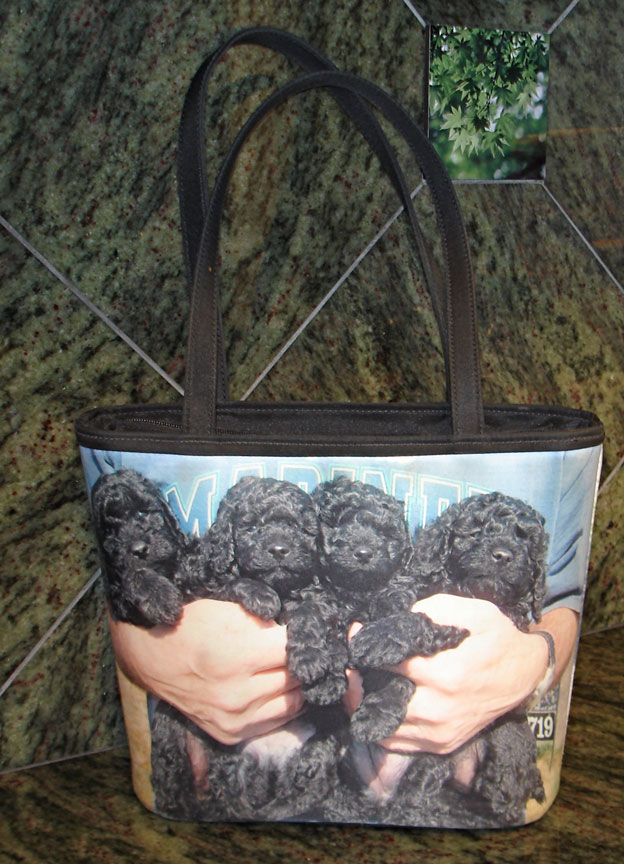 [custom pet purse with poodle picture]
